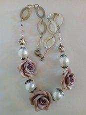 Collana tre rose