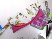 Pochette, pochette stoffa, pochette piccola, pochette donna, regalo donna, borsa ecopelle, pochette ecopelle, clutch bag, clutch, borsa ecopelle, borsa a mano