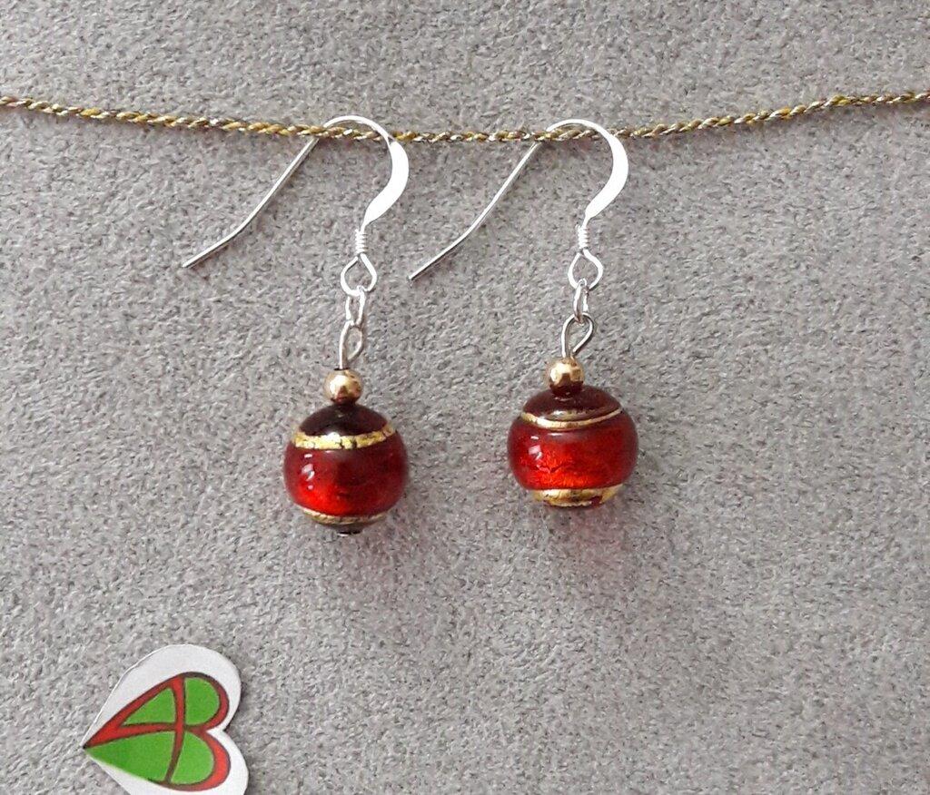 Orecchini di Murano - Rosso
