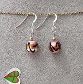 Orecchini di Murano - Tigre Rosa