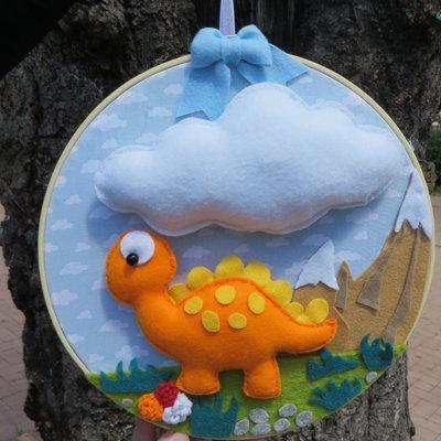 fiocco nascita bimbo -dinosauro