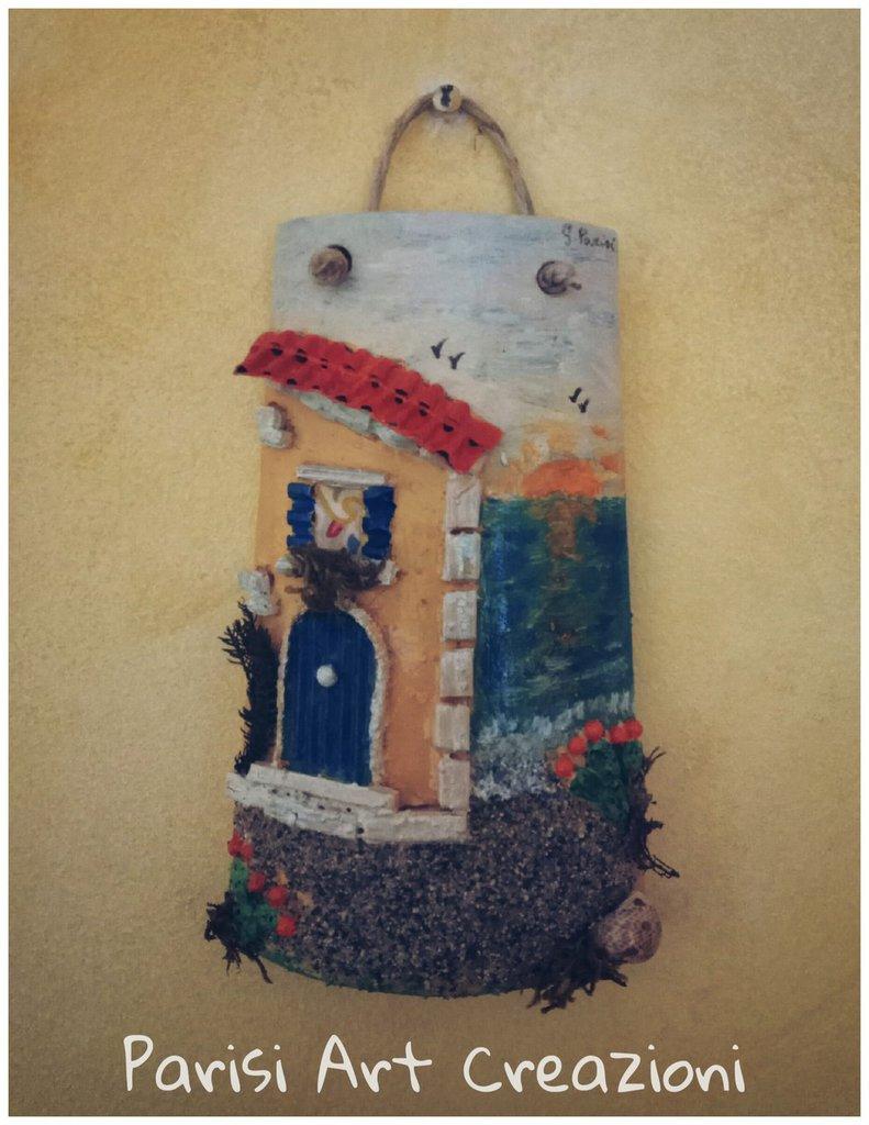 Tegola decorata in stile marinaro