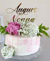 topper cake personalizzabile con immagini o scritte