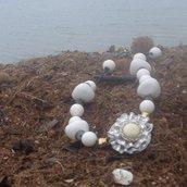 collana in perle bianche