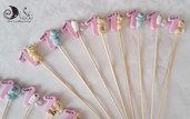 Spiedini di caramelle decorati per caramellate animaletti misti per bimba
