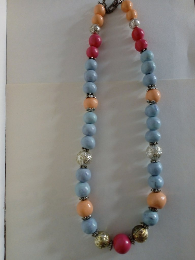 Collana perle pasta di mais