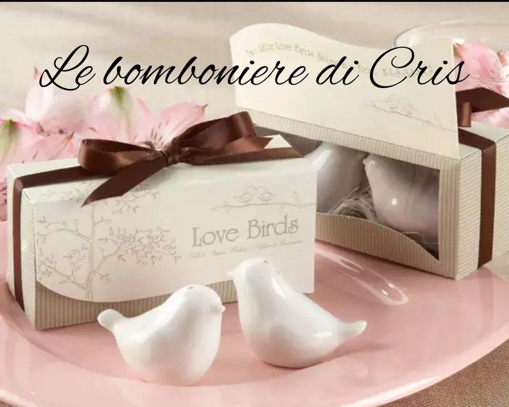 Bomboniere In Ceramica Per Matrimonio.Bomboniera In Ceramica Per Matrimonio Love Birds Sale E Pepe