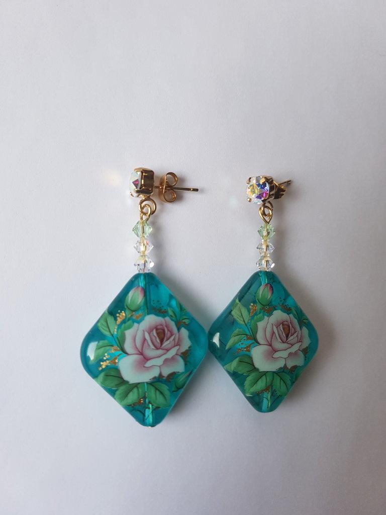 Orecchini pendenti Tensha Flower