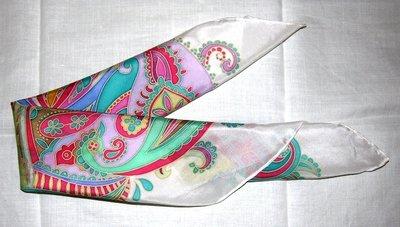 foulard di pura seta dipinto a mano
