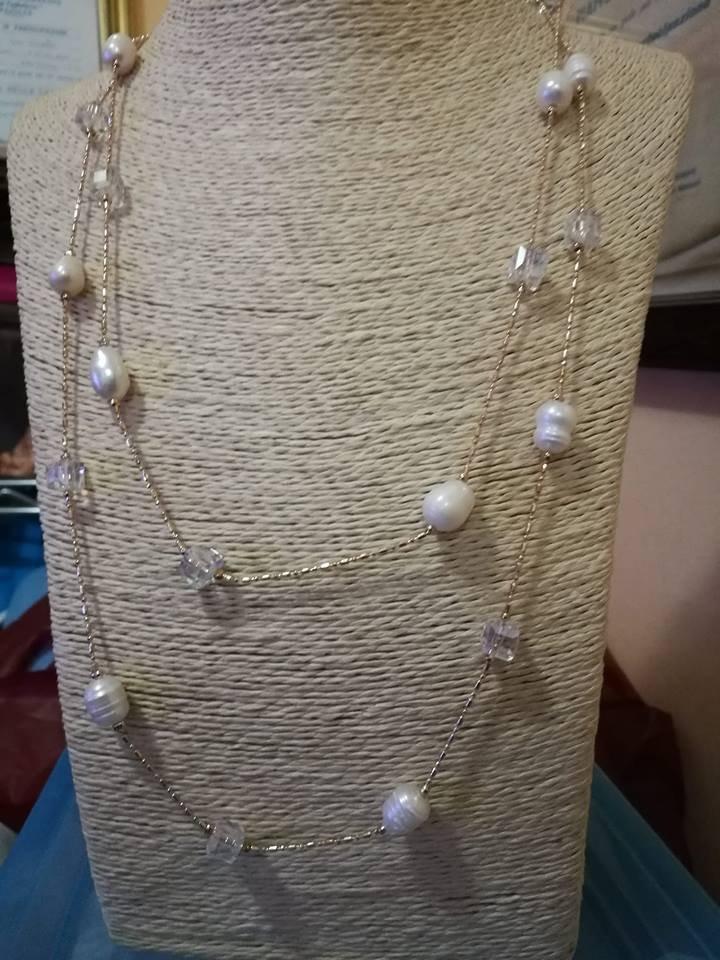 collana due giri perle barocche