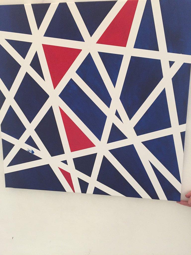 Canvas blu e rosso 50x60