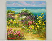 Dipinto olio su tela cm.40 x 40