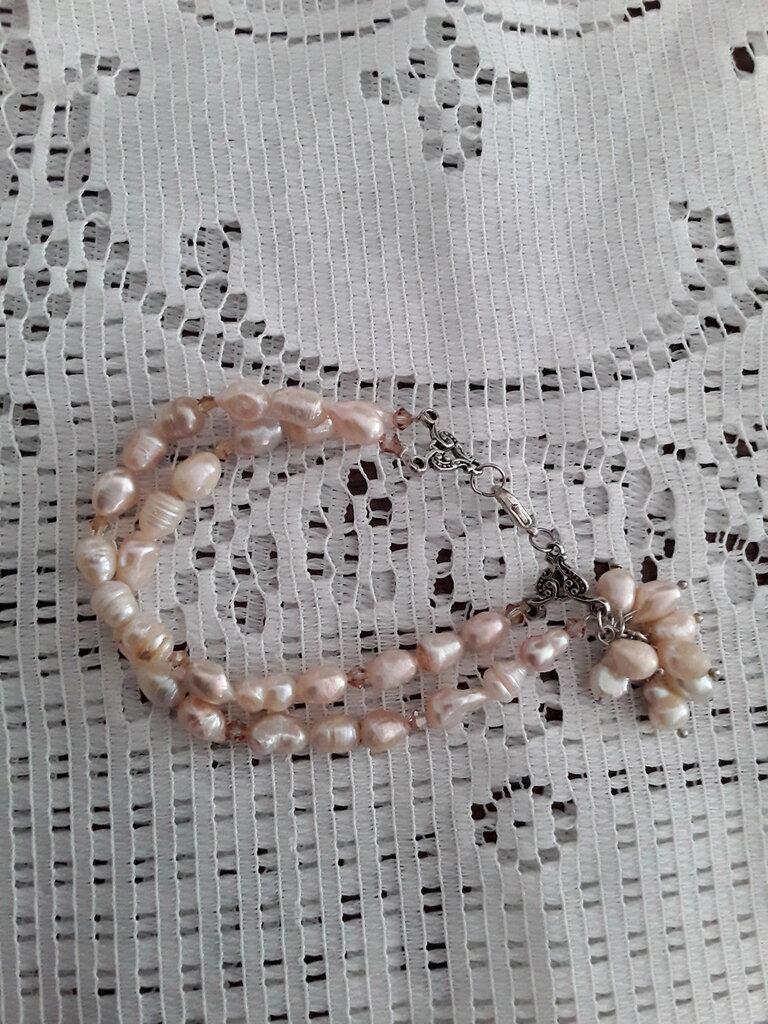 Bracciale due fili perle di fiume