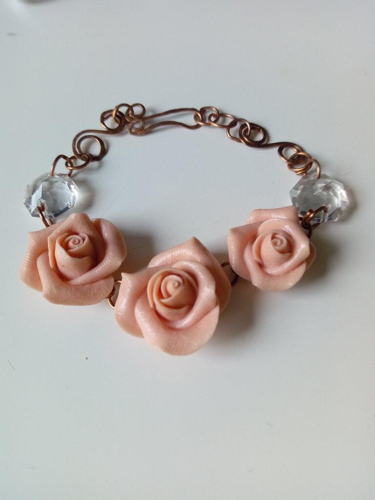 Braccialetto rose rame