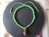 Braccialetto estivo verde con unakite