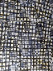 Scampolo di tessuto vintage con motivi geometrici