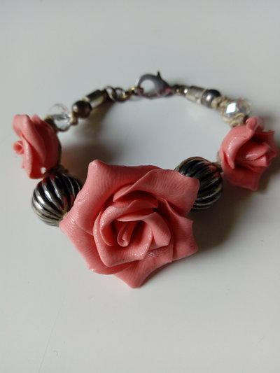 Braccialetto rose spago