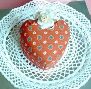 Scatola Cuore Patchwork