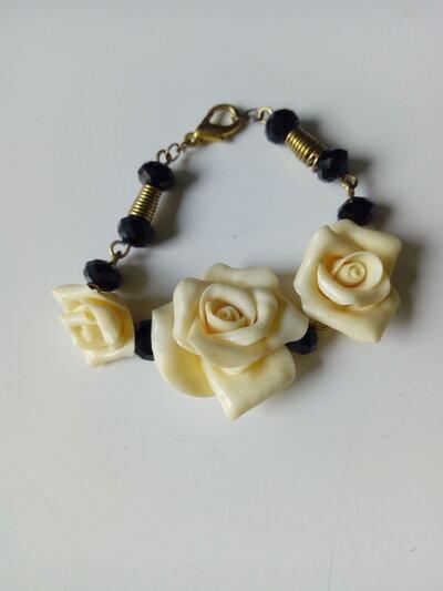 Braccialetto rose ottone