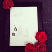 Cornice con rose rosse