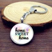 Portachiavi con frase Home sweet home