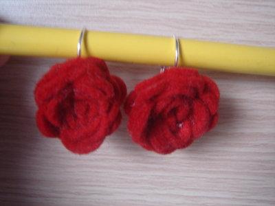 orecchini con rose