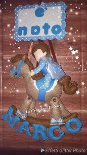Fiocco nascita cavallo a dondolo