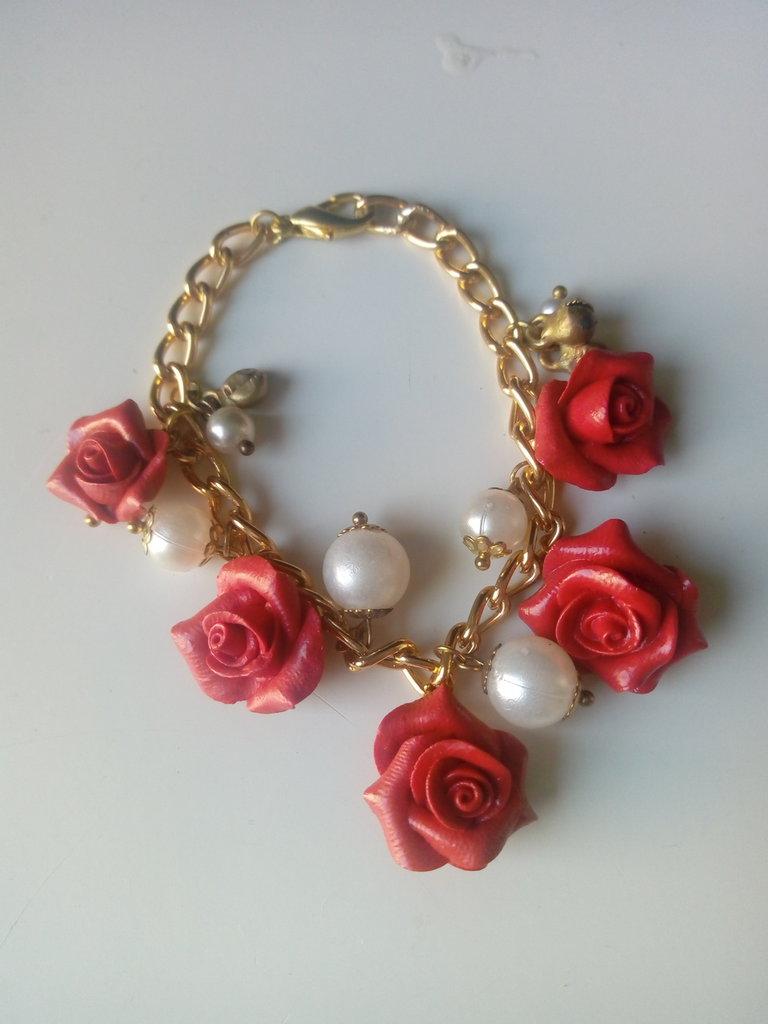 Braccialetto rose color oro