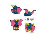 Set 4 design Dumbo, embroidery design, ricamo digitale. INSTANT DOWNLOAD