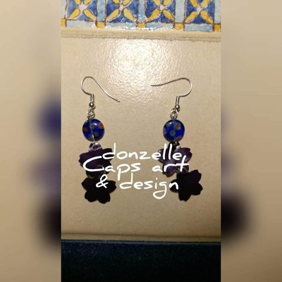 orecchini pendenti stile floreale fatti a mano con capsule del caffè - linea Gift Five