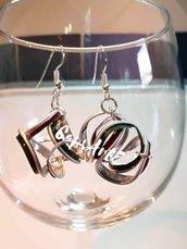 orecchini pendenti astratti fatti a mano con capsule del caffè - linea Gift eight