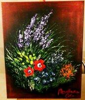 """Flowers"", acrilico su tela"