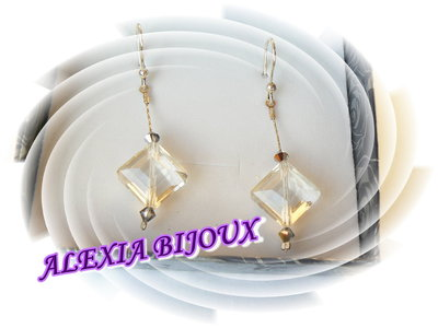 Orecchini Argento925 rombo crystal