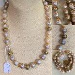 Collana importante in  Perle Barocche e Argento925