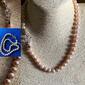 Collana in Perle Coltivate Rosate