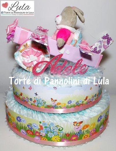 Torta di Pannolini Pampers Aereo grande - idea regalo, originale ed utile, per nascite, battesimi e compleanni