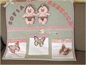 Porta pannolini per neonata