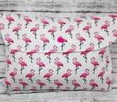 Porta pannolini e porta salviette da borsa fenicotteri rosa