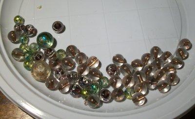58 perle miste in vetro
