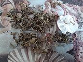 Lotto di gancetti per orecchini vintage