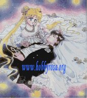 Schema punto croce Sailor Moon per quadro