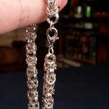 Bracciale maglie bizantine in acciaio lavorate con la tecnica chainmaille