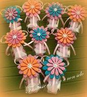 Confettate/segnaposti/bomboniere con fiore