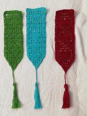 Segnalibro uncinetto colorato