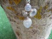 girocollo argento 925 con pendente pietra di luna