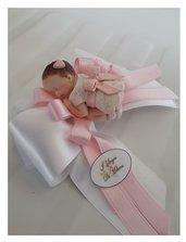 Bomboniere Battesimo bebè bimba rosa