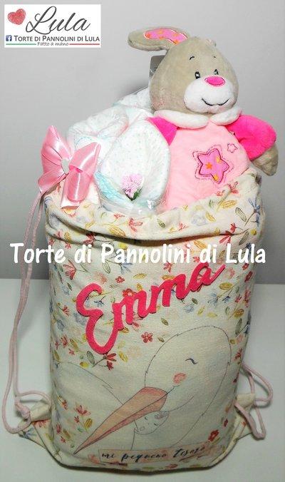 Torta di pannolini / Sacca primo cambio nascita con regalini idea regalo nascita battesimo baby shower neomamma