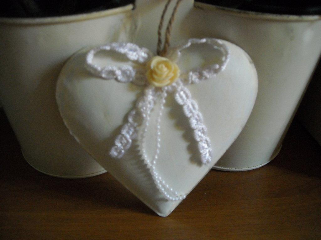 Cuori in latta decorati in stile shabby 3 modelli,Pezzi Unici
