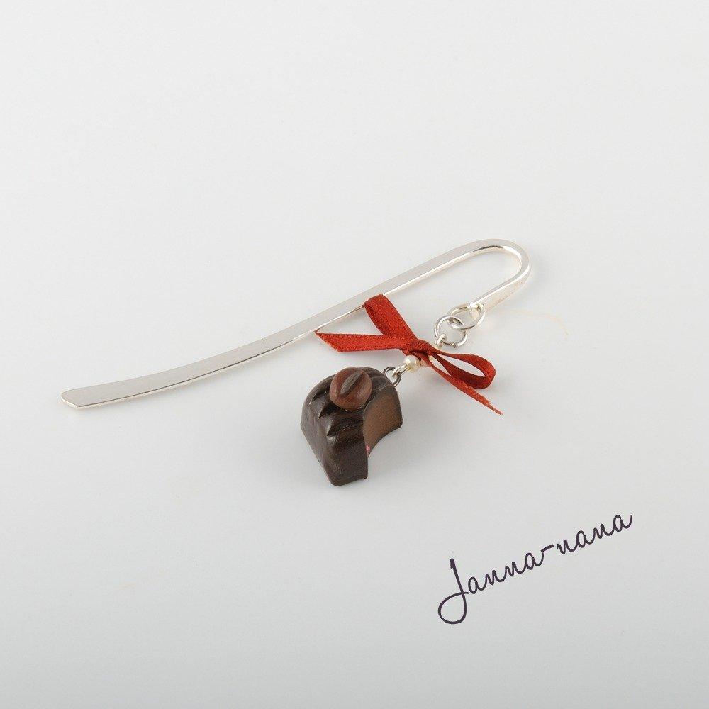 Segnalibro bonbon al cafè with cristallo Swarovski