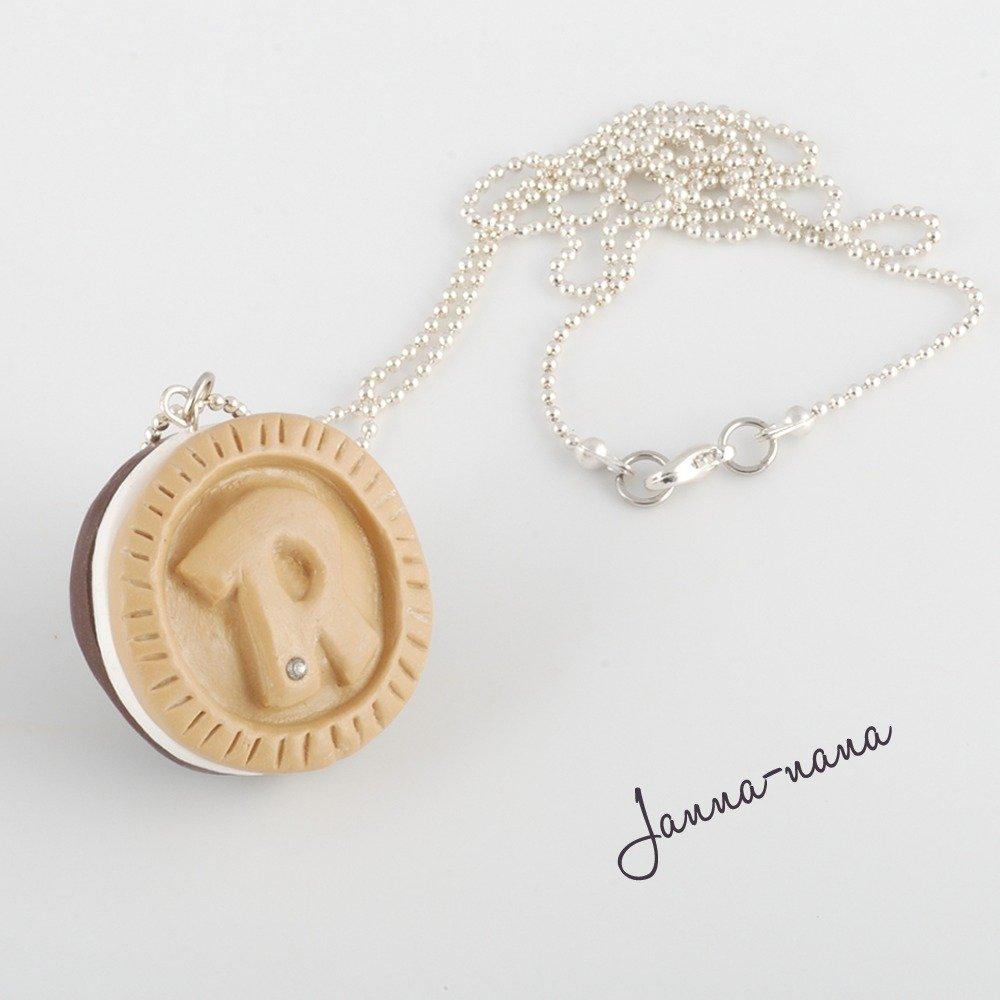 Collana biscotto Ringo con cristallo Swarovski
